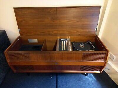 £35 • Buy HMV Radio Gram / Record Player, Vintage / Antique, Housed In A Wooden Cabinet