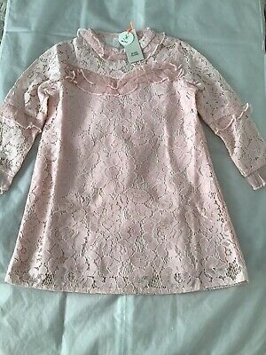 £6 • Buy River Island Mini Girls Aged 12-18 Months Pink Occasion Lace Dress BNWT