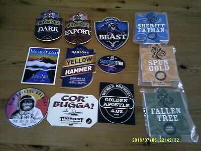 £2 • Buy 12 Interesting Beer Pump Clips Including Twisted Oak
