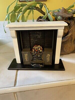 £5 • Buy Dolls House Large Open Coal Fire Hearth Fireplace Resin Furniture 1.12