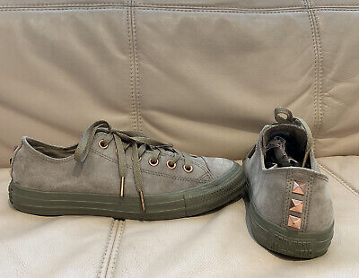 £10.50 • Buy All Star Converse Studded Suede Trainers Size 8.5