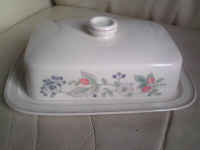 £6.99 • Buy Wedgwood Roseberry Lidded Butter Dish,A/F,