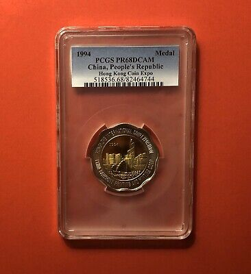 £70.34 • Buy 1994-china-hong Kong-outstanding Unc  Proof Expo Medal,graded By Pcgs Pr 68.deal