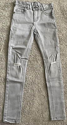 £1.20 • Buy Boys Grey Super Skinny Age 10 Next Jeans Adjustable Waist New Without Tags