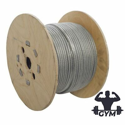 £3.99 • Buy 3mm - 4mm GYM CABLE CLEAR NYLON 11 Galvanised Steel Wire Rope GYM WIRE UK STOCK