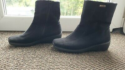£2.60 • Buy Black Suede Wedge Ankle Boot. Size 3