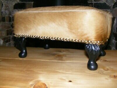 £40 • Buy Upcycled Leather Covered Footstool