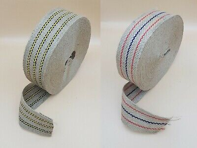£6.99 • Buy 60/70mm Wide Upholstery Webbing Traditional Jute Woven Craft Tapes Sofa Straps