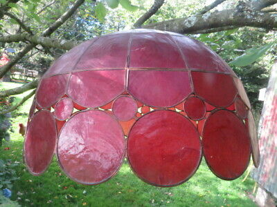 £34.95 • Buy Vintage Large Red  Capiz Shell  Ceiling Light Shade
