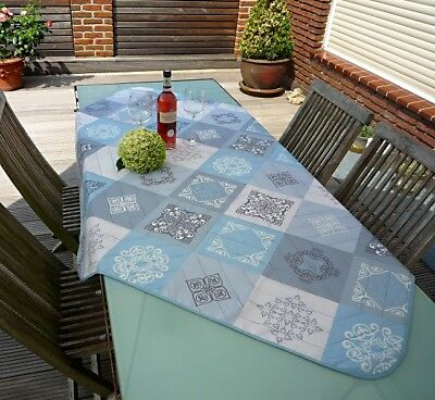 £14.82 • Buy Tablecloth Non-Iron 130x150 CM Blue Grey From France Provence Easy-Care