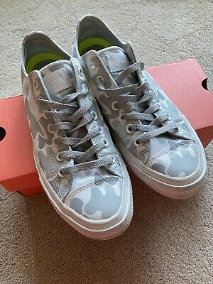 £20 • Buy Converse With Lunarlon Grey Camouflage Mens Womens UK Size 8.5 In VGC!