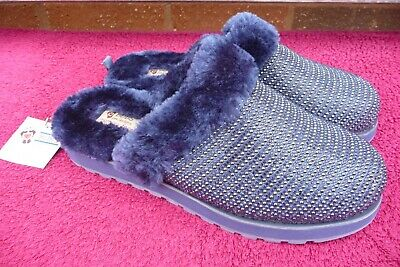 £8 • Buy BOBS From Skechers Faux Fur Lined Sliders Size 5 UK Unworn With Tags.