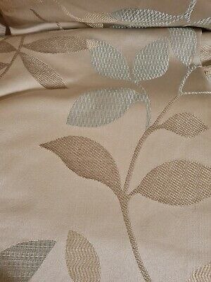 £28 • Buy Long Curtains Duck Egg Blue Leaf Print Megan Montgomery Lined 88  W X 90  L