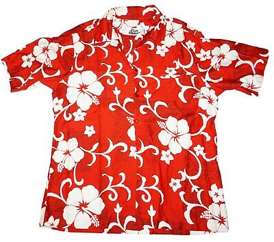 £18.08 • Buy Hilo Hattie's Hawaiian Aloha Button Down Vintage - Mens Large Red Floral Shirt