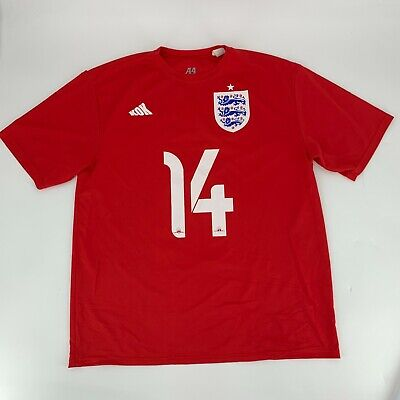 £14.54 • Buy A4 World Cup Mens PUllover T-Shirt Jersey Size XL Red Crew Neck Logo #14 Soccer