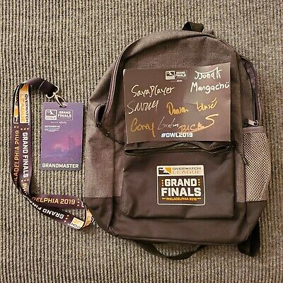 AU82.09 • Buy 2019 OVERWATCH LEAGUE GRAND FINALS Signed Card Backpack Lanyard Entrance Pass