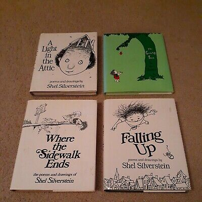 £14.53 • Buy Lot Of 4 Shel Silverstein Books, The Giving Tree, Where The Sidewalk Ends