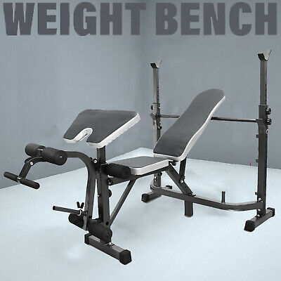 £99.99 • Buy Multi Olympic Weight Bench Press Adjustable Fitness Workout Home Gym Bicep Curl