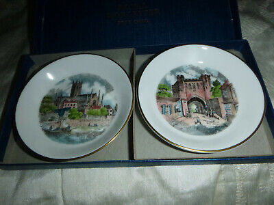 £0.99 • Buy Royal Worcester Bone China Pair Of Boxed Trinket Dishes Made For Kay & Co Ltd