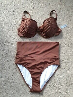 £4 • Buy Saress Swim Bikini In Brown Brand New With Tags And Protection Stickers Size 18