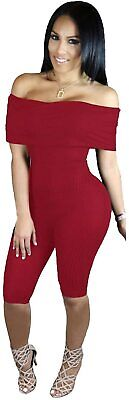 £0.99 • Buy New Red Wine Cropped Jumpsuit Catsuit Club Wear Size UK 10/12