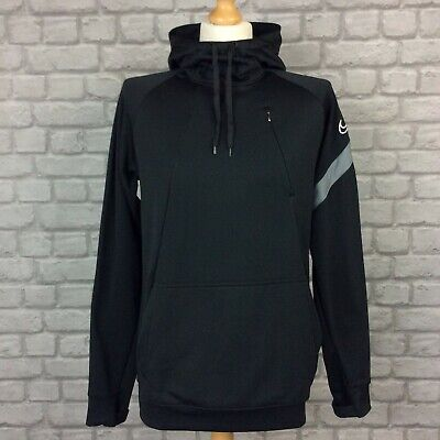 £27.50 • Buy Nike Dri Fit Mens Academy Overhead Black Smooth Poly Track Top Hoodie Ad