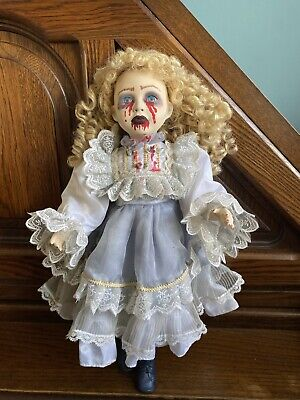 £27 • Buy Large Ooak Gothic Scary Horror Creepy Zombie Halloween Porcelain Doll