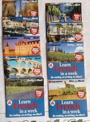 £12 • Buy LEARN FRENCH IN A WEEK: LINGUAPHONE All Talk With Daily Mail - 9 Audio CDs