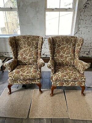 £45 • Buy Two Vintage Parker Knoll Wingback Armchairs