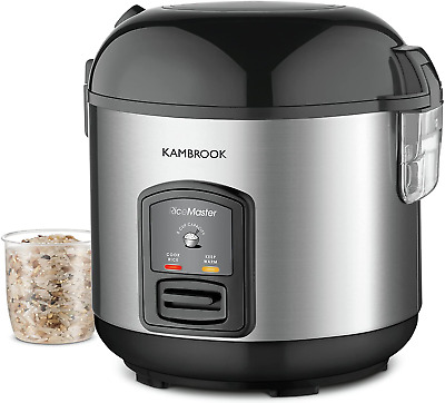 AU56.75 • Buy Kambrook Rice Master 5 Cup Rice Cooker KRC405BSS Silver,Black