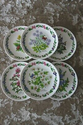 £15 • Buy Royal Worcester BRADEX Herbs Set Of 6 China Decorative Plates – Good Cond.