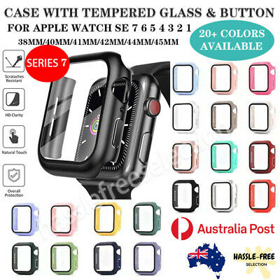 AU8.49 • Buy For Apple Watch Iwatch Case Full Cover Screen Protector Series 6/5/4/3/2/1/SE