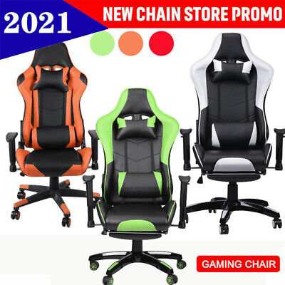 £65.99 • Buy Office Racing Gaming Chairs Swivel Leather Recliner Computer Chair Executive