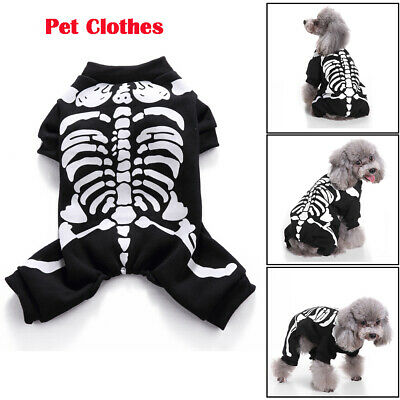 £7.99 • Buy Pet Dog Halloween Horror Skeleton Clothes Dress Funny Costume Clothing Outfit