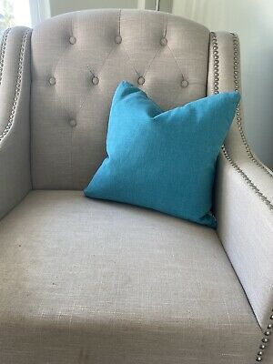 £7.90 • Buy NEW Loaf Peacock Blue Cushion 50cmx50cm With Feather Insert RRP £50