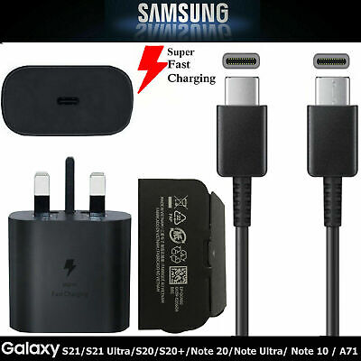 £14.99 • Buy Samsung Galaxy S20 S21 5G 25W Ultra Fast USB C PD Charger Plug Adapter Cable Lot