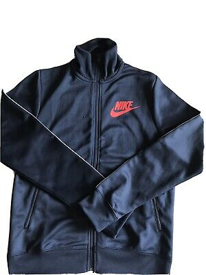 £8 • Buy Nike Men's Navy Blue Tracksuit Top Track Top Size S Small Zipped Sweatshirt