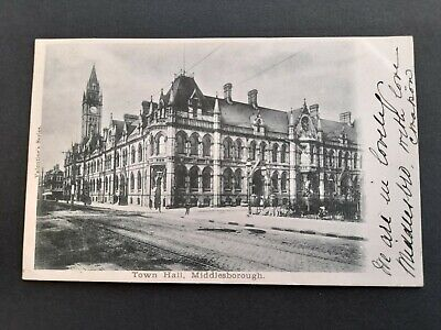 £2.20 • Buy Early Postcard Middlesborough Town Hall, Posted Feb 19th 1903. (Undivided Back).