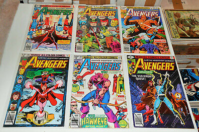 £50 • Buy 6x AVENGERS 154 180 183 186 187 189 Lot 1976 Scarlet Witch 1st Chthon Darkhold