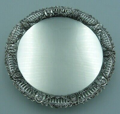 £239.97 • Buy Victorian Solid Silver Pierced Card Tray (Salver) - 296g 18.1cms With Portraits