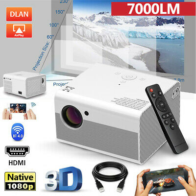 AU203.89 • Buy Mini 1080P 4K Wifi Bluetooth Video Projector Android IOS Wireless Home Theater