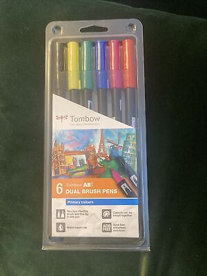 £11.99 • Buy Tombow ABT Dual Brush Colour Pens - Primary Colours Set Of 6