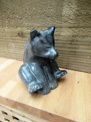 £22.90 • Buy Vintage Inuit Stone Carving Of A Bear Cub Playing