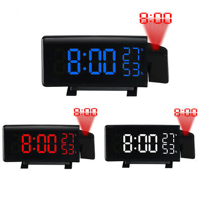 £22.08 • Buy Digital LED Projection Alarm Time Clock Snooze Weather Thermometer With FM Radio