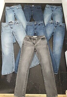 £48 • Buy 7 X Next Womens Jeans Sz 12 Mid-Rise Blue Denim Skinny Flare Relaxed H&M