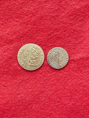 £16 • Buy Metal Detecting Find A Gold Guinea Token And Half Gold Guinea Token
