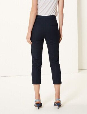 £9.50 • Buy Marks And Spencer The Mia Slim Cropped Navy Trousers 20