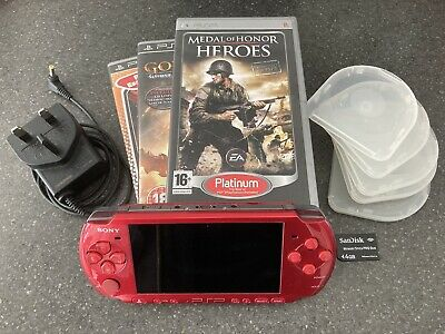 £35 • Buy Sony PSP 3003 Red With Games And Memory Card