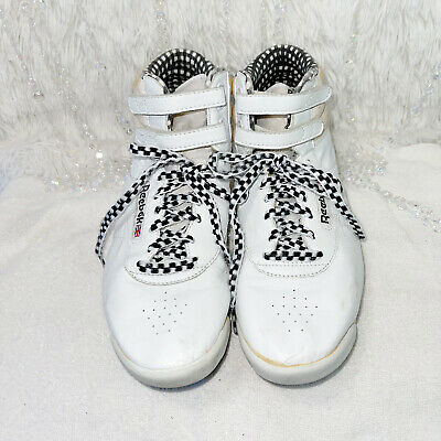 £32.91 • Buy VINTAGE 80's REEBOK Fashion Sneakers Womens 8.5 Classic High Top Checkered Laces
