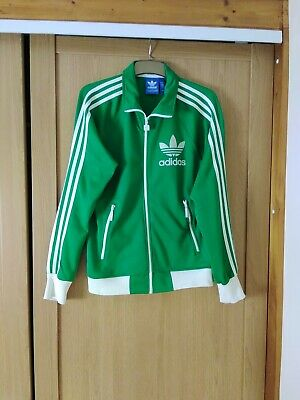 £22 • Buy Adidas Green/white Zip Up Tracksuit Jacket Top Size M